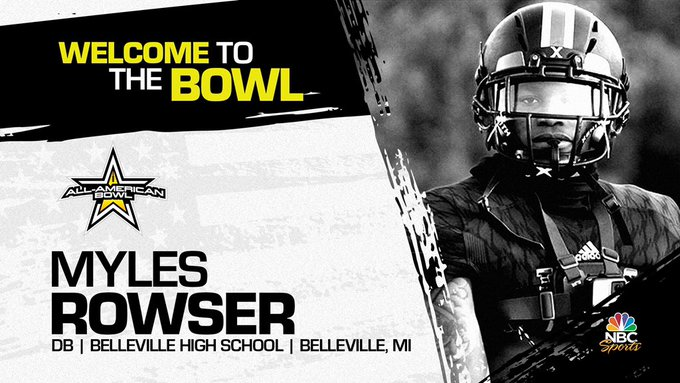 Myles Rowser (Belleville, MI/ Belleville High School), the Arkansas verbal commit has officially accepted his invitation to the 2022 All-American Bowl.