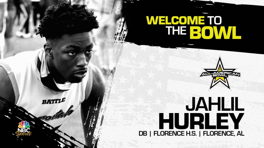 Jahlil Hurley (Florence, AL/ Florence High School), four-star defensive back, has officially committed to the 2023 All-American Bowl.