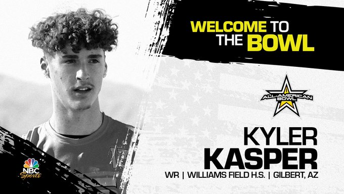 Kyler Kasper (Gilbert, AZ/ Williams Field High School), four-star wide receiver, has officially committed to the 2023 All-American Bowl.