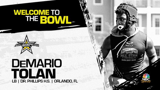 DeMario Tolan (Orlando, FL/ Dr. Phillips High School), the LSU verbal commit has officially accepted his invitation to the 2022 All-American Bowl.