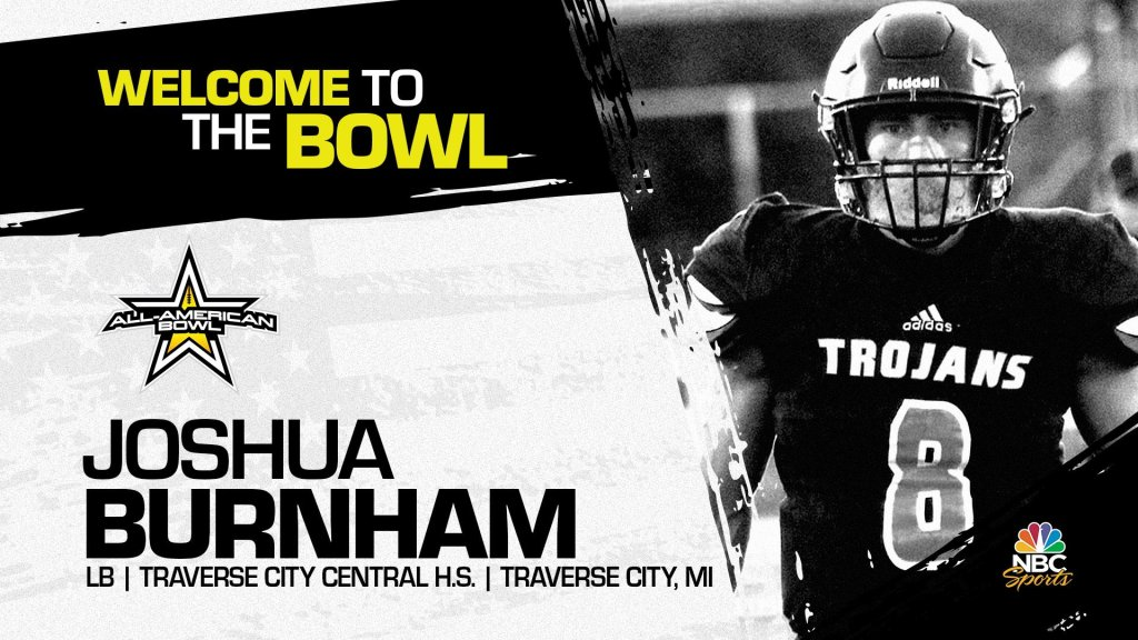 Notre Dame commit Joshua Burnham has officially accepted his invitation to the 2022 All-American Bowl.
