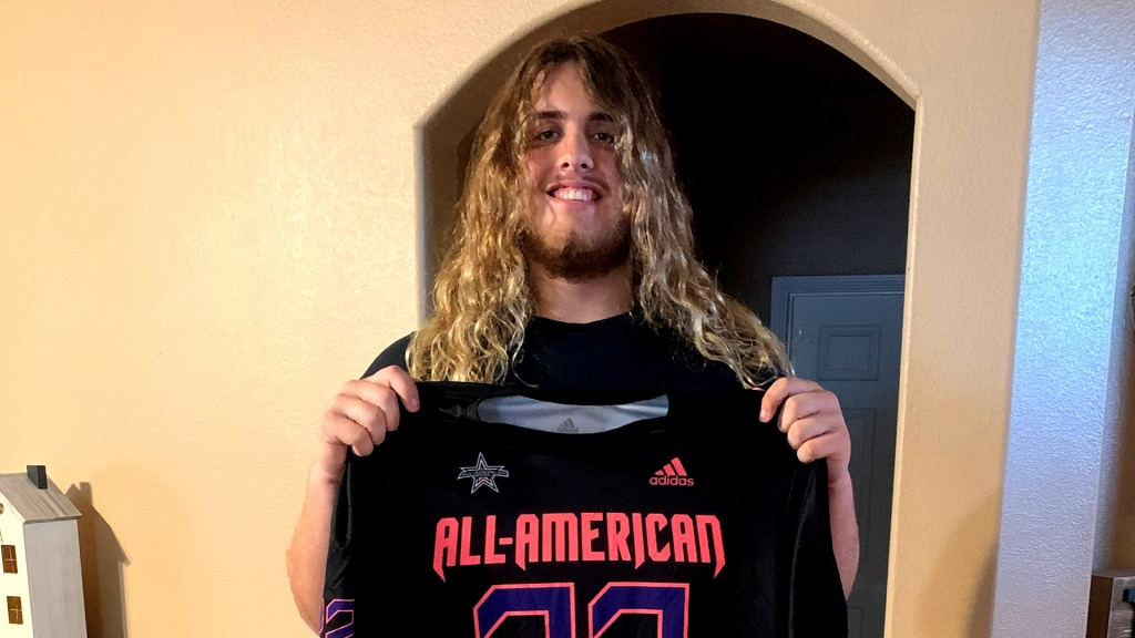 Offensive lineman Hunter Erb (Haslet, Texas/Eaton H.S.), the Texas A&M University commit, was officially honored today as a 2022 All-American.