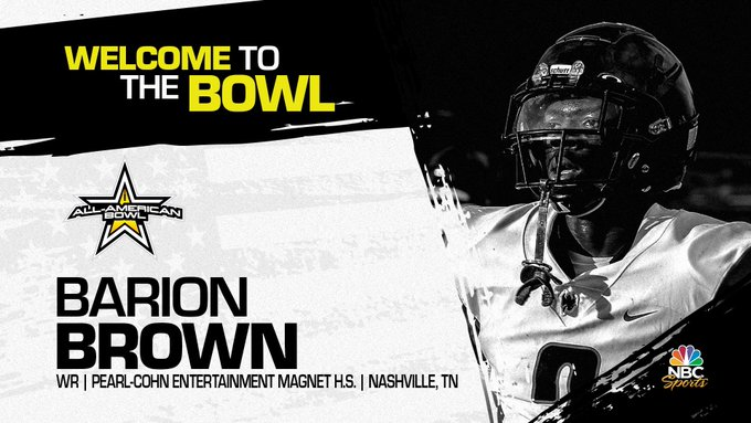 Wide receiver Barion Brown, the four-star prospect has officially accepted his invitation to the 2022 All-American Bowl.