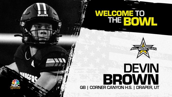Quarterback Devin Brown, the four-star University of Southern California pledge has officially accepted his invitation to the 2022 All-American Bowl.
