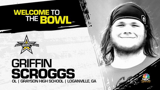Offensive lineman Griffin Scroggs, the University of Georgia commit has officially accepted his invitation to the 2022 All-American Bowl.