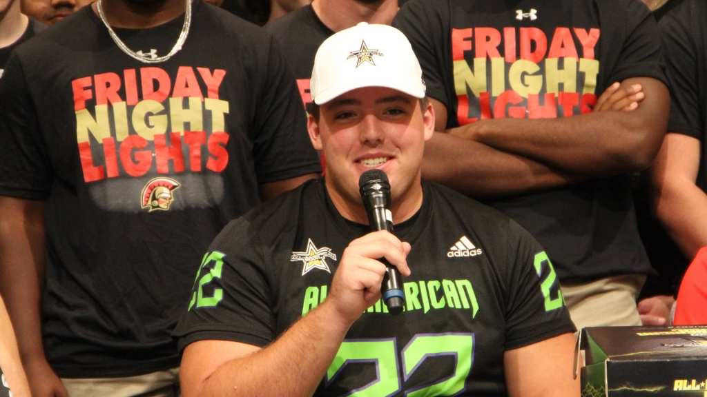 Offensive lineman Addison Nichols, the University of Tennessee commit, was officially honored as a 2022 All-American.