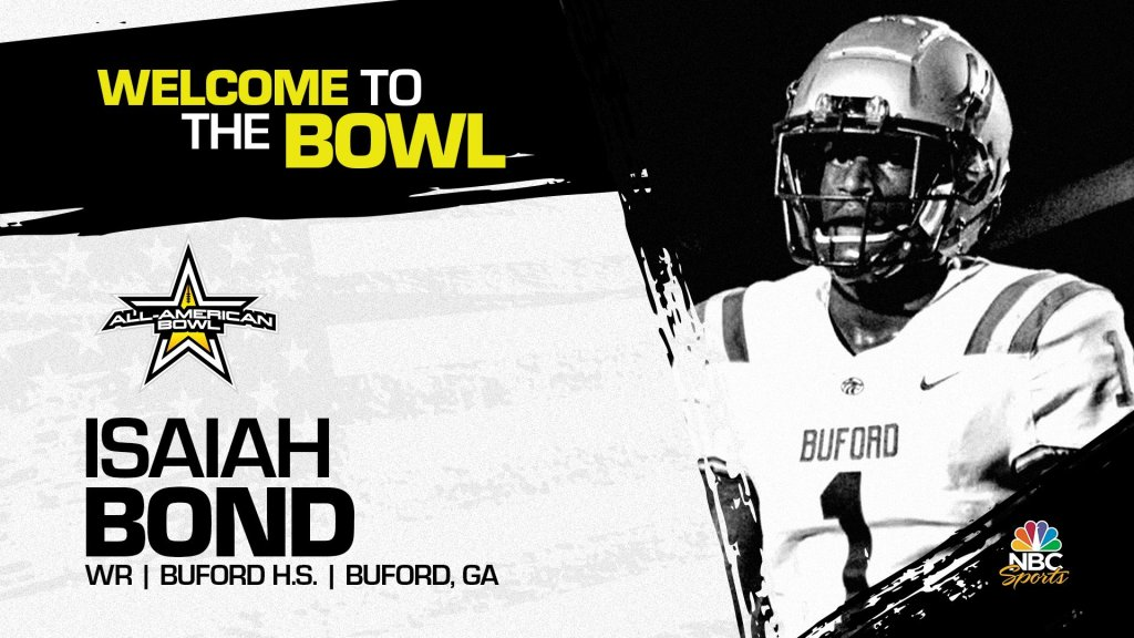 Isaiah Bond (Buford, GA/ Buford H.S.), the four-star University of Florida pledge has officially accepted his invitation to the 2022 All-American Bowl.