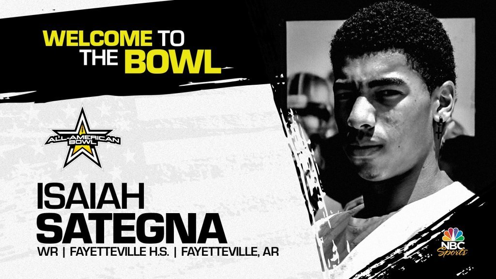 Isaiah Sategna (Fayetteville, AR/ Fayetteville H.S.), the University of Oregon pledge has officially accepted his invitation to the 2022 All-American Bowl.