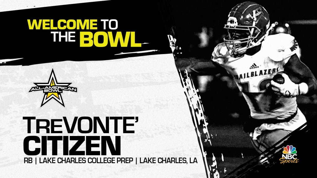 Running back TreVonte' Citizen, the four-star Louisiana State University pledge has officially accepted his invitation to the 2022 All-American Bowl.